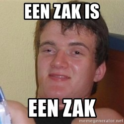 high/drunk guy - een zak is een zak