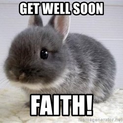 ADHD Bunny - Get well soon Faith!