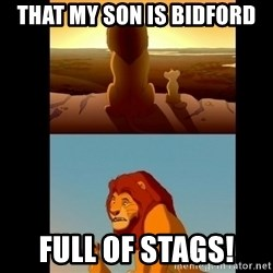Lion King Shadowy Place - That my son is Bidford  Full of stags!