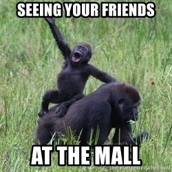 Happy Gorilla - Seeing your friends At the mall
