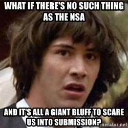 Conspiracy Keanu - what if there's no such thing as the nsa and it's all a giant bluff to scare us into submission?