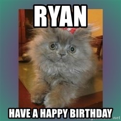 cute cat - Ryan Have a Happy Birthday