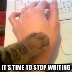 It's time to stop cat -  IT'S TIME TO STOP WRITING