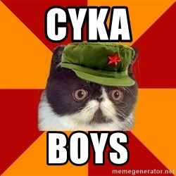 Communist Cat - CYKA  BOYS