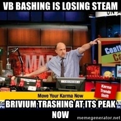 Mad Karma With Jim Cramer - VB bashing is losing steam Brivium trashing at its peak now