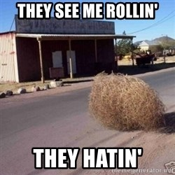 Tumbleweed - They see me rollin' They hatin'