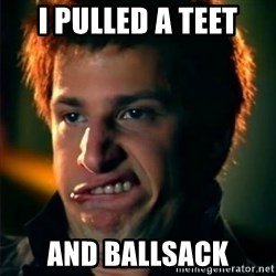 Jizzt in my pants - i pulled a teet and ballsack