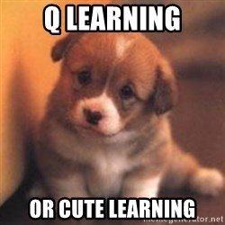 cute puppy - q learning or cute learning