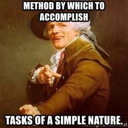 Joseph Ducreux - method by which to accomplish tasks of a simple nature.