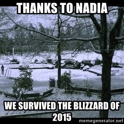 UVIC SNOWDAY - Thanks to Nadia we survived the blizzard of 2015