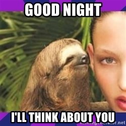 Perverted Whispering Sloth  - GOOD NIGHT I'LL think about you