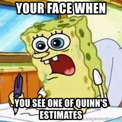 Spongebob What I Learned In Boating School Is - Your face when  You see one of Quinn's estimates