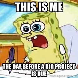 Spongebob What I Learned In Boating School Is - this is me the day before a big project is due