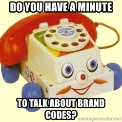 Sinister Phone - Do you have a minute to talk about brand codes?