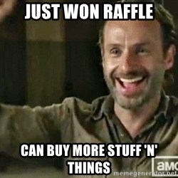 RICK GRIMES TWDEAD - JUST WON RAFFLE CAN BUY MORE STUFF 'N' THINGS