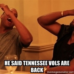 kanye west jay z laughing -  He said Tennessee vols are back