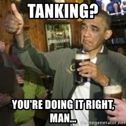 obama beer - Tanking? You're doing it right, man...
