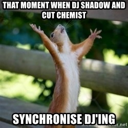 Praising Squirrel - That moment when DJ Shadow and Cut Chemist Synchronise DJ'ing