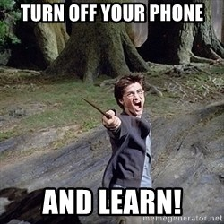 Pissed off Harry - Turn off your phone And LEARN!