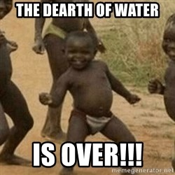Little Black Kid - The dearth of water Is over!!!