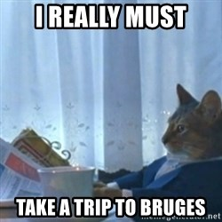 Sophisticated Cat Meme - I really must take a trip to Bruges
