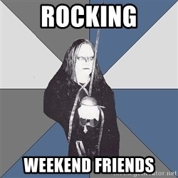 Black Metal Sword Kid - Rocking weekend friends