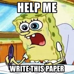 Spongebob What I Learned In Boating School Is - HELP ME WRITE THIS PAPER