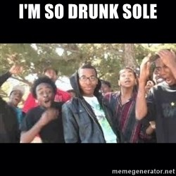 SIKED - I'm so drunk sole