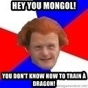 Dutch mongoloid - Hey you mongol! you don't know how to train à dragon!