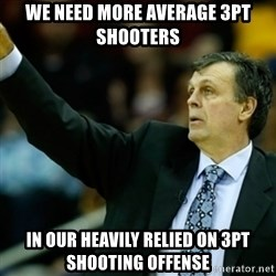 Kevin McFail Meme - we need more average 3pt shooters in our heavily relied on 3pt shooting offense