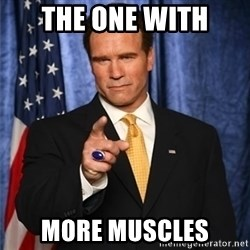 arnold schwarzenegger - The one with more muscles