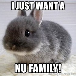 ADHD Bunny - I JUST WANT A  NU FAMILY!