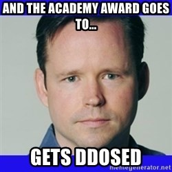 krebsonsecurity - and the academy award goes to... gets ddosed