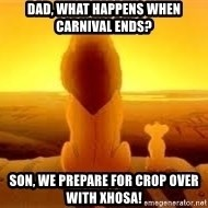 The Lion King - Dad, what happens when Carnival ends? Son, we prepare for Crop Over with Xhosa!