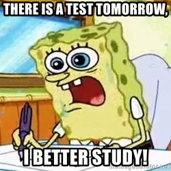 Spongebob What I Learned In Boating School Is - There is a test tomorrow, i better study!