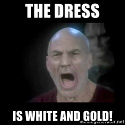 Picard lights - The dress Is white and gold!