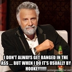 The Most Interesting Man In The World -  I don't always get banged in the ass .... But when I do it's usually by hookey!!!!!