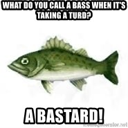invadent sea bass - what do you call a bass when it's taking a turd? a bastard!
