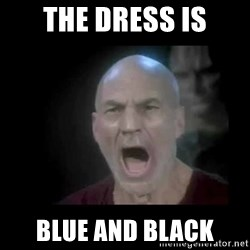Picard lights - The Dress is Blue and Black