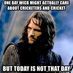 Not this day Aragorn - one day wicb might actually care about cricketers and cricket but today is not that day