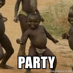 Little Black Kid -  party