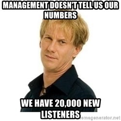 Stupid Opie - Management doesn't tell us our numbers We have 20,000 new listeners