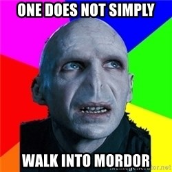Poor Planning Voldemort - one does not simply walk into mordor