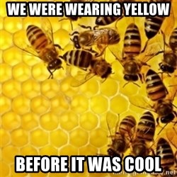 Honeybees - We were wearing yellow  Before it was cool
