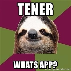 Just-Lazy-Sloth - Tener  whats app?
