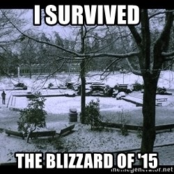 UVIC SNOWDAY - i survived the blizzard of '15
