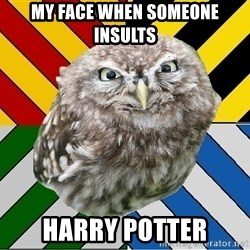 JEALOUS POTTEROMAN - My Face When Someone Insults  HARRY POTTER