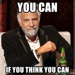 The Most Interesting Man In The World - YOU CAN IF you think you can