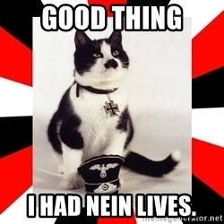 Hitler Cat - Good thing  I had nein lives.
