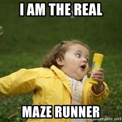 Little girl running away - i am the real maze runner